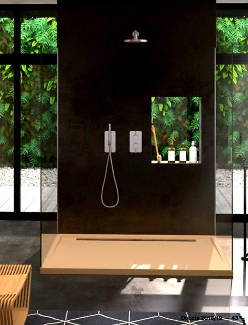 Plato de ducha con borde lateral